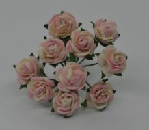 1 cm BLUSH BABY PINK Mulberry Paper Roses
